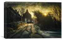The House In The Trees at Veensgarth, Shetland., Canvas Print