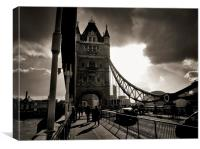 Across Tower Bridge, Canvas Print