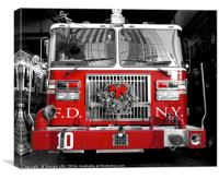 NYC Fire Engine, Canvas Print