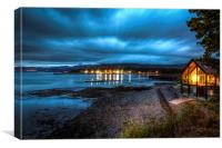 Menai Beach House, Canvas Print