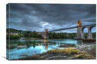 Menai Bridge, Canvas Print