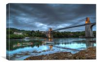 Menai Bridge , Canvas Print