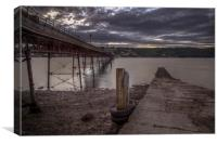 Bangor Pier at Dusk, Canvas Print