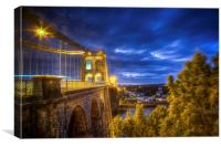 Menai Bridge, Bangor, Canvas Print