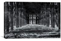 Underneath the Pier, Canvas Print