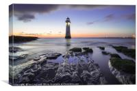 Sun Down Over Perch Rock, Canvas Print