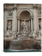 Fontana di Trevi, Canvas Print