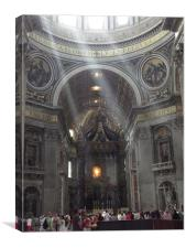 St Peters Basilica, Canvas Print