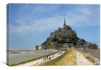Mont St Michel Abbey, France, Canvas Print
