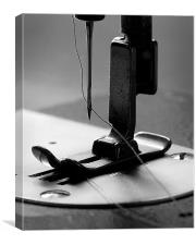Tailor's sewing machine, Canvas Print
