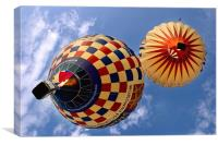Baloons over head, Canvas Print