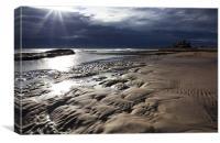 Bamburgh Beach, Canvas Print