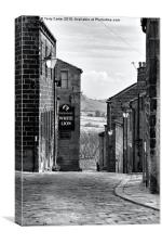 Heptonstall cobbles, Canvas Print