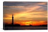 Grimsby Dockside Sunset, Canvas Print