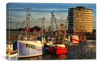 Grimsby Docks Fishing Boats, Canvas Print