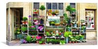 Bath Flower Shop Display, Canvas Print