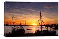Sunset Over Grimsby Docks II, Canvas Print