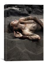 black beach, Canvas Print