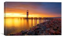 Lighthouse Podersdorf, Canvas Print
