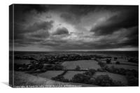 Glastonbury Tor Storm BW, Canvas Print