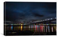 Tay Bridge, Dundee, Canvas Print