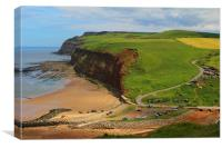 Skinningrove cliffs, Canvas Print