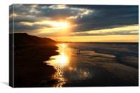 saltburn sunset, Canvas Print