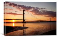 The Humber Bridge Sunset, Canvas Print