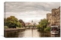 Newark Castle Overlooking the River Trent , Canvas Print