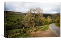 View over Nidderdale near Scar house reservoir, Canvas Print