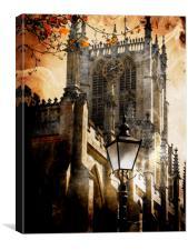 Hull  Minster  - Trinity  Square  , Canvas Print