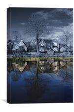 Biddestone Village Pond, Canvas Print