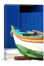 Greek Fishing Boat, Canvas Print