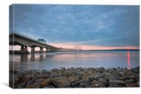 Severn Bridge Sunset, Canvas Print