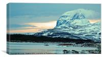 Snowy Mountain Loch, Canvas Print