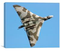 Avro Vulcan over the Midlands, Canvas Print