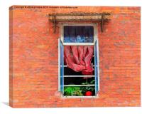 Double Happiness Window, Canvas Print