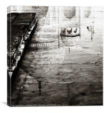 Reflection of the Taj Mahal, Canvas Print