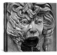 Fountain Face, Canvas Print