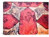 Sandstone Tiles , Canvas Print