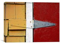 Isosceles Triangles on Wood , Canvas Print
