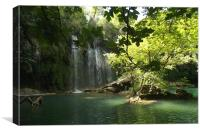 Waterfalls of Aspendos, Canvas Print