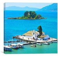 Mouse island on Corfu, Canvas Print