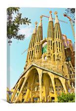 La Sagrada Familia, Canvas Print