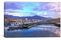 Port in Fuengirola, Spain, Canvas Print