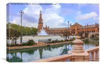 Spanish square in Sevilla, Spain., Canvas Print