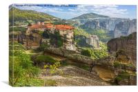 Monastery from Meteora-Greece, Canvas Print