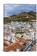 White village Mijas in Malaga, Spain, Canvas Print