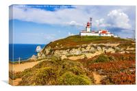 Light house at Cape Roca, Sintra, Portugal, Canvas Print