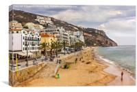 Beach of Sesimbra, Portugal, Canvas Print